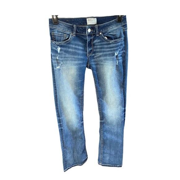 Bke Stella boot cut distressed jeans